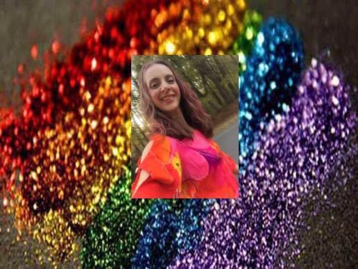 team rainbow glitter